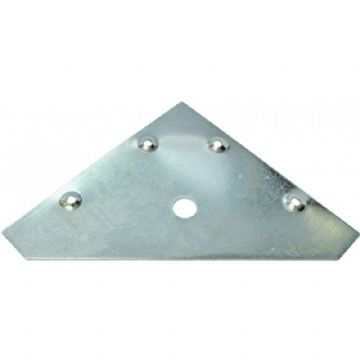 83mm x 83mm FLAT CORNER PLATE / BRACKET / BRACE BZP CEN035 Various pack sizes